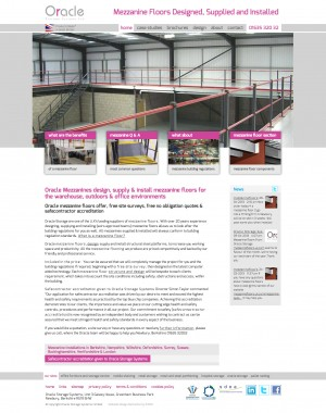 Mezzanine Floors website homepage