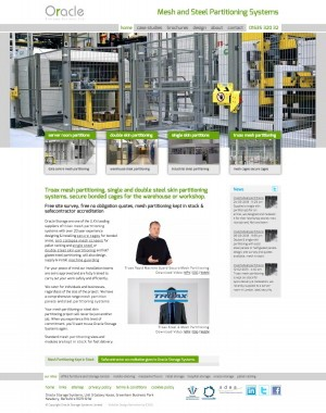 Mesh & Steel Partitioning website homepage