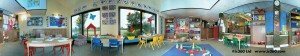 Children's nursery playroom panoramic photo