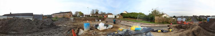 Building site panoramic image
