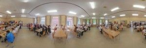 Mary Hare School canteen at lunch time